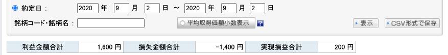 2020-09-02 収支