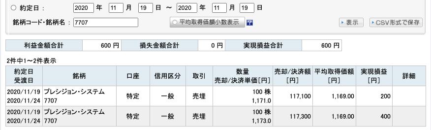 2020-11-19 PSS 収支
