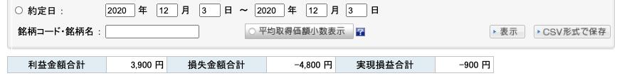 2020-12-03 収支