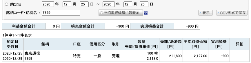 2020-12-25 東京通信 収支