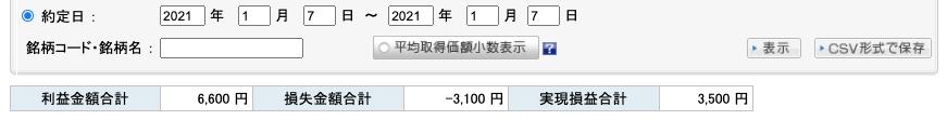 2021-01-07 収支