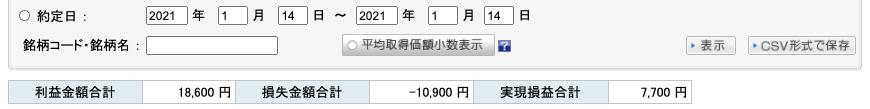 2021-01-14 収支