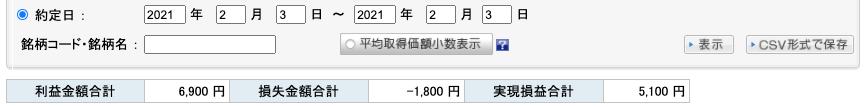 2021-02-03 収支