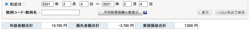 2021-02-04 収支
