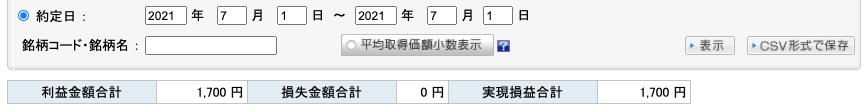 2021-07-01 収支